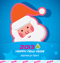 Merry christmas card santa claus new year badge icon symbol Stock Photo