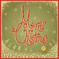 Merry christmas card with text vintage vector illu illustration on old paper Stock Photo