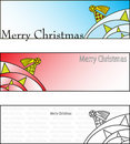 Merry christmas cards Stock Image
