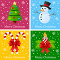 Merry Christmas Cards Stock Photos