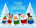 Merry Christmas! Christmas carol. Choir Royalty Free Stock Photo