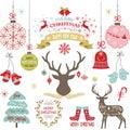 Merry Christmas,Christmas Flowers,Deer,Rustic Christmas,Christmas Tree,Christmas decoration set