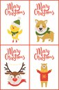 Merry Christmas Collection on Vector Illustration