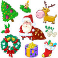 Merry Christmas Colore Doodles Stock Image