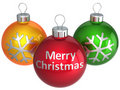 Merry Christmas colorful balls (Hi-Res) Royalty Free Stock Photos