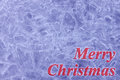 Merry christmas congratulation blue ice background with red Royalty Free Stock Photos