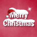 Merry christmas creative font design Stock Image