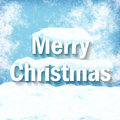 Merry christmas creative winter design Royalty Free Stock Photo