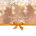 Merry christmas cute gift greeting card sample Royalty Free Stock Image