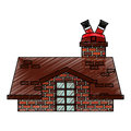 Merry christmas cute house