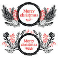Merry christmas design elements card Stock Image
