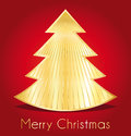 Merry christmas design greeting card red and gold Stock Photo