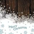Merry christmas design on hardwood planks texture vector gift card Royalty Free Stock Photos