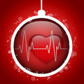 Merry christmas doctor hospital heart ball vector Royalty Free Stock Photography