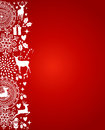 Merry Christmas elements red postcard vector file. Royalty Free Stock Photo