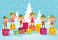 Merry Christmas Elves Stock Images