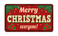 Merry Christmas everyone, vintage metal sign Royalty Free Stock Photo