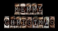 Merry christmas in fancy letters Stock Photos