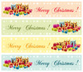 Merry christmas festive commercial banners colorful Royalty Free Stock Image
