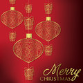 Merry christmas formal filigree card in vector format Stock Photo