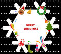 Merry Christmas frame Royalty Free Stock Photography