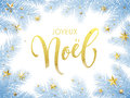 Merry Christmas In French Joyeux Noel Greeting Card, Poster