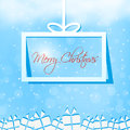 Merry christmas gift box card sample Royalty Free Stock Photo