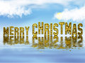 Merry Christmas gold Royalty Free Stock Photos