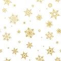 Merry Christmas gold glittering design. EPS 10