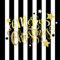 Merry Christmas gold lettering. Vector Royalty Free Stock Photo