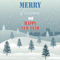 Merry christmas greeting card on the blue background Stock Photo