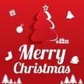 Merry Christmas Greeting Card. Christmas tree. Stock Photo