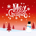 Merry christmas greeting card vector of Stock Photography
