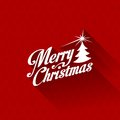 Merry Christmas greeting card vector design templa