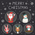 Merry Christmas greeting graphic Royalty Free Stock Photo