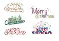 Merry Christmas Greeting Logo