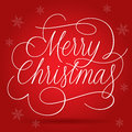 Merry christmas greetings slogan on red background eps vector with transparency Stock Photography
