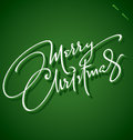 'Merry Christmas' hand lettering (vector) Royalty Free Stock Photos