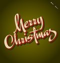 Merry Christmas hand lettering (vector) Stock Image