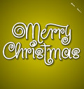 Merry Christmas hand lettering (vector) Royalty Free Stock Photo