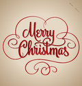 Merry christmas hand lettering vector handmade vintage calligraphy eps Royalty Free Stock Images