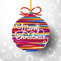 Merry Christmas handwritten swirl lettering Royalty Free Stock Photo