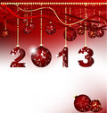 Merry Christmas and Happy New Year 2013 Royalty Free Stock Images