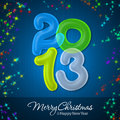 Merry Christmas and Happy New Year 2013 Royalty Free Stock Photography