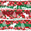 Merry Christmas and Happy New Year background. Seamless pattern. Royalty Free Stock Photo