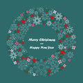 Merry Christmas and Happy New Year Background, vector Royalty Free Stock Photo
