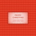 Merry Christmas and Happy New 2019 year banner, poster in knitted effect. Vector stock background.