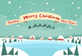 Merry Christmas and Happy New Year Banner Santa Royalty Free Stock Photo