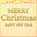 MERRY CHRISTMAS HAPPY NEW YEAR // Beautiful Merry Christmas Banner Transparent Design