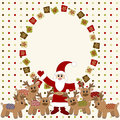 Merry Christmas and Happy New Year Card Royalty Free Stock Image